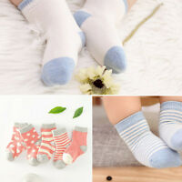 5 Pairs Newborn Baby Cartoon Cotton Socks Infant Toddler Kids Soft Sock LJU