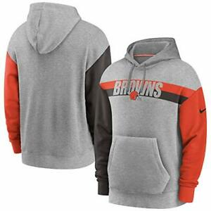 Cleveland Browns Nike Youth Boys Heritage Tri-Blend Pullover Hoody Sweatshirt