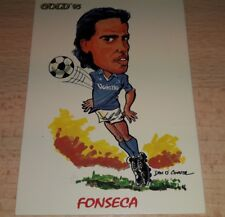 CARD GOLD 1993 NAPOLI FONSECA CARICATURA CALCIO FOOTBALL SOCCER ALBUM