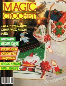Magic Crochet Magazine October 1988  Doilies Christmas