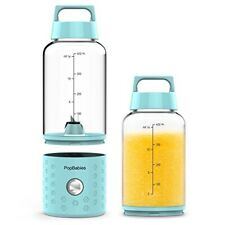 Portable Blender, PopBabies Personal, Smoothie. Rechargeable USB Corolina Blue