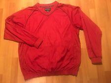 FJ FootJoy Golf Pullover Jacket Windbreaker Men's Size Large L Red Color Pockets