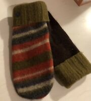 Handmade Felted Wool Recycled Sweater Mittens Cuff Style Bernie Sanders