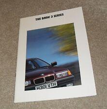 BMW 3 Series E36 Brochure 1991 316I 318I 320I 325I