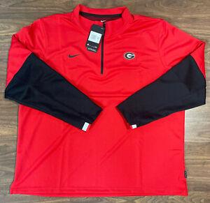 Nike University of Georgia Therma Dri-Fit 1/4 Zip Pullover (CQ5693-657) Size XXL