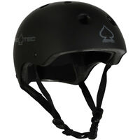 Pro-Tec Helmet Classic Skate Certified Matte Black Skateboard / Bike Protec Lid