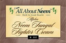 "Neem Oil ""Alpha"" Cream to Heal and Sooth Painful Inflamed Skin Conditions - 8 Oz"