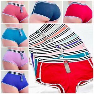 Boyshorts Sports SEXY LOVE Panties 6 OR 12 Undies 95% COTTON ACTIVE WEAR S-XL