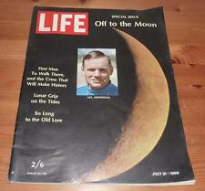 LIFE MAGAZINE 21ST JULY 1969 OFF TO THE MOON SPECIAL ISSUE NEIL ARMSTRONG COVER