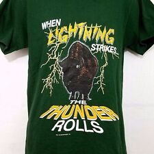 Thunder Rolls Buffalo T Shirt Vintage 90s Lightning Strikes Made In USA Medium