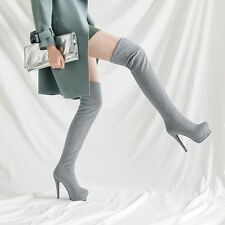 5colors New Ladies Fashion Sexy Stilettos High Heels Pull On Over The Knee Boots