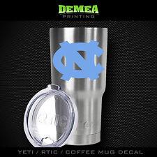 Unc Tarheels -Yeti/Rtic/Yeti Rambler/Tumbler/Coffee Mug-Decal_Lt. Blue