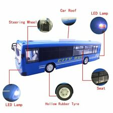 RC City Bus Remote Control Vehicles 6 Ch 2.4G Electronic Hobby Toy (Blue)