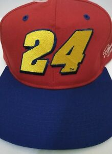 Vintage Jeff Gordan #24 Nascar Racing Snapback Hat- Original - Big #24 Logo