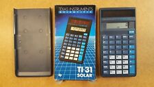 TEXAS INSTRUMENTS SCIENTIFIC TI-31 SOLAR CALCULATOR BOXED FULLY WORKING 1986