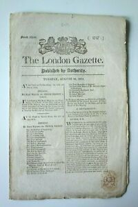 THE LONDON GAZETTE TUESDAY AUGUST 30, 1814, ISSUE 16930 (PAGES 1757-1764)