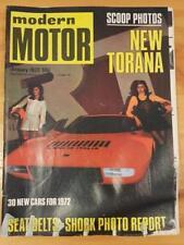 Modern Motor Magazine Januarty 1972