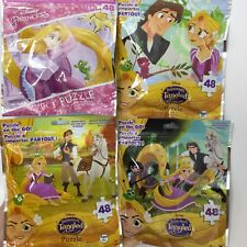 "DISNEY Princess ""Tangled"" Set Of 4 Jigsaw Puzzles With 48 Pieces"