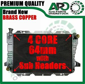 4 Row Brass Copper Radiator For FORD F100 / F150 / F250 / F350 / Bronco V8 83-97