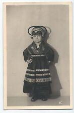 BP228 Carte Photo vintage card RPPC Enfant jeune fille déguisement