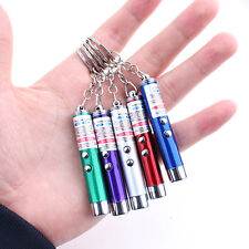 Ultraviolet Light Mini Red Laser Pen Led Flashlight Keychain Money Detector Pen