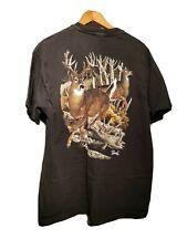 Vintage Faded Black Wilderness Deer Size Large T Shirt