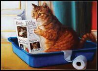 Kitty Reading - Chart Counted Cross Stitch Patterns Needlework DIY DMC