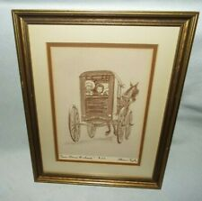 "FRAMED FLORENCE TAYLOR ""FENCE AROUND THE AMISH"" DRAWING #112  LOOK!!!!"