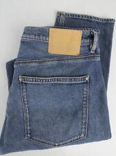 ACNE STUDIOS BLA KONST MAX MID BLUE Men W34/L32 Stretchy Slim Fit Jeans 26025-JS