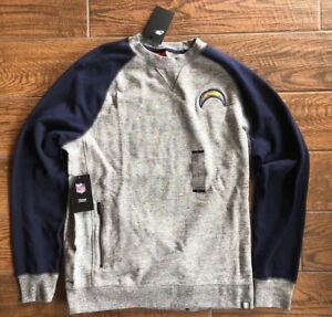Los Angeles Chargers Nike Pullover Sweater LARGE New Mens Blue And Heather Grey