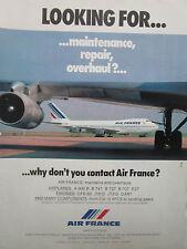 2/1981 PUB AIR FRANCE AIRLINE BOEING 747 AIRLINER MAINTENANCE REPAIR OVERHAUL AD