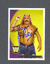 Iron Sheik signed 2010 Topps Wrestling card