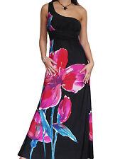 Ladies Black Maxi Dress Stretch Summer Evening Size 10 12 14 16 18