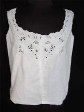 Rare Deadstock Edwardian Era Hand Embroidered White Cotton Top Size 36-38+