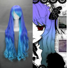 "Curly Gradient Purple 90cm 35.4""  Blue VOCALOID ANTI The HOLIC LUKA Cosplay Wig"
