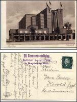 MAGDEBURG 1931 Stadthalle Stempel Genossenschaftstag Deutscher Kunsumvereine