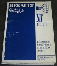 Werkstatthandbuch Elektrik Renault Twingo I elektrische Schaltpläne ab 1996