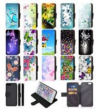 BUTTERFLY Wallet Flip Phone Case iPhone 4 5 6 7 8 Plus X compatible