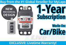 MyLaps X2 Car/Bike Rechargeable Transponder w/ 1-year Subscription -AMB Flex 260