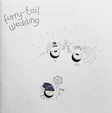 Furry-tail Wedding Day greeting card, comedy theme, Bride and Groom, brand new