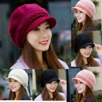 Women Ladies Beret Winter Warm Baggy Beanie Knit Crochet Hat Slouch Ski Cap