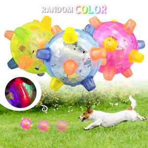 """Crazy Jumping Dog Ball Vibrating Bouncing Funny Toy with Colorful LED Light 4.5"""""""