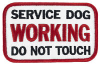"""SERVICE DOG WORKING DO NOT TOUCH Velcro® (H42) 4"""" X 2.25"""" Patch FREE SHIP! 54909"""