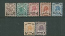 ERITREA 1922 LION overprints (Scott 58-64) F MH please read desc