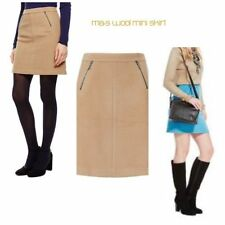 Wool Patternless A-line Skirts for Women