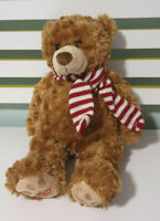 MYER TEDDY BEAR HARRY RED AND WHITE SCARF 40CM! PROMOTIONAL TEDDY BEAR!