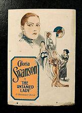 THE UNTAMED LADY 1926 ORIGINAL MOVIE HERALD - GLORIA SWANSON