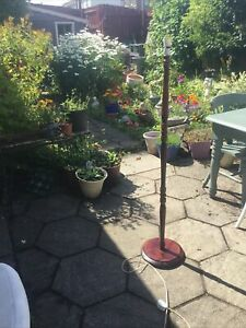Floor lamp  wood Retro Vintage lamp stand needing attention To Lamp Holder