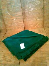 Vintage New w Tags Amanda Smith Dark Teal Square Scarf Wrap Shawl w Fringe
