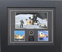 NASA Apollo 11 Lunar Excursion Module Framed Print + Piece Of Kapton Relic Coa